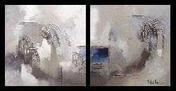 moderne schilderijen 3d olieverf op doek canvas 2 luik